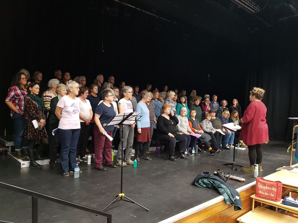 HullaBe20 choir rehearsal for concert at Sallis Benney Theatre | Brighton