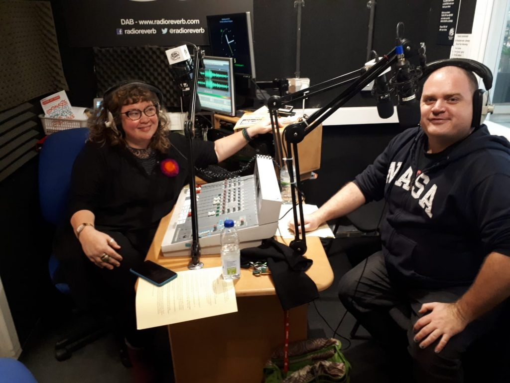 Paul & Kirsty presenting Vox Pop on Radio Reverb